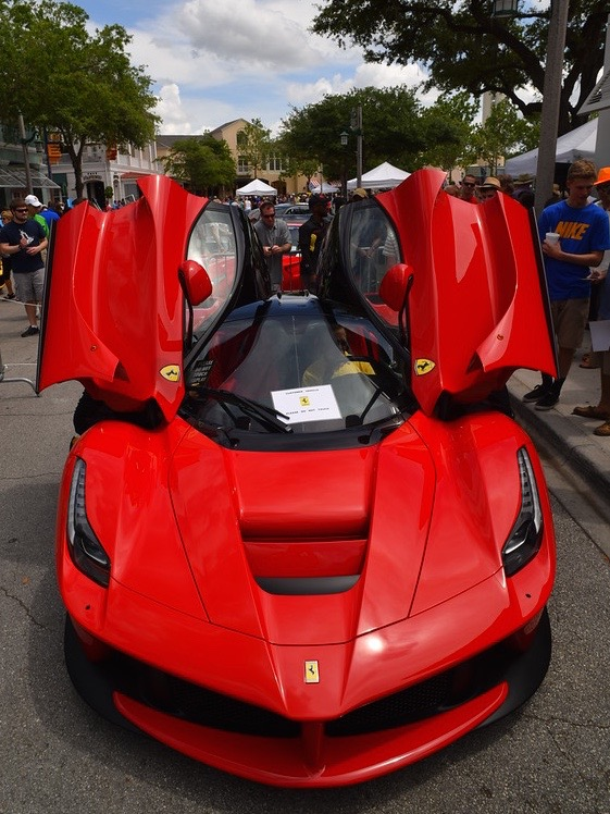 Concours Of Exotic Cars In Downtown Celebration